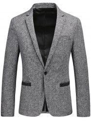 Blazer à Col Tailleur à Bouton Simple en Tweed -