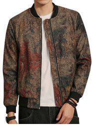 Tie Dyed Zip Up Bomber Jacket -