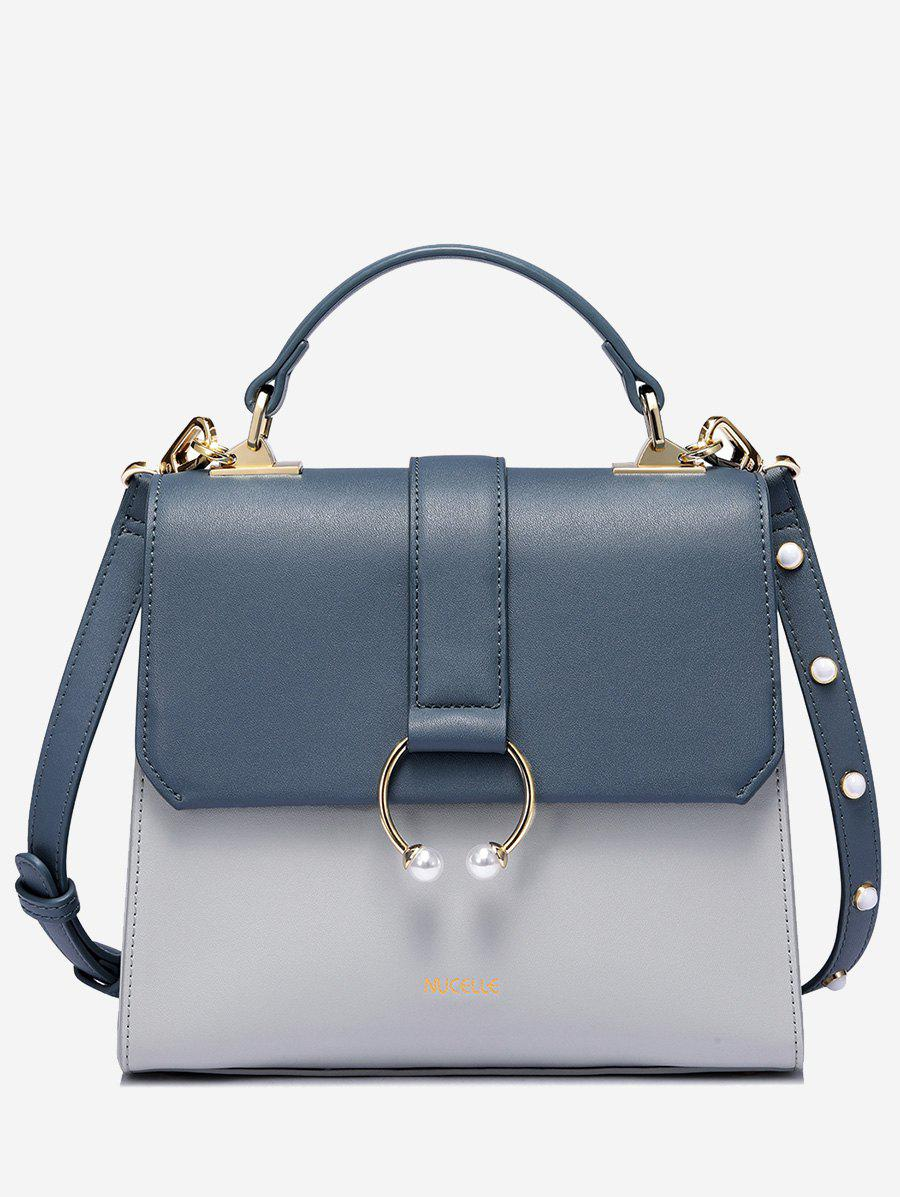 Latest PU Leather Faux Pearls Tote Bag
