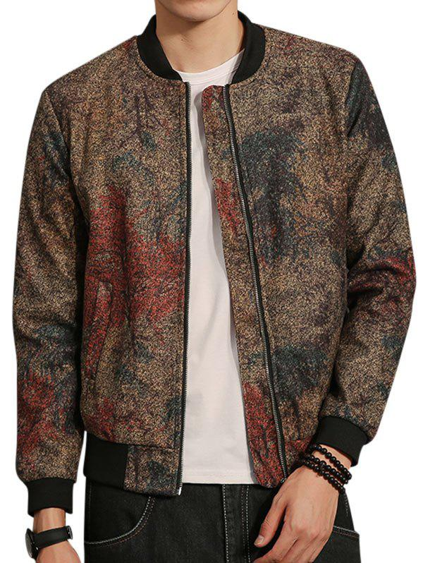 Affordable Tie Dyed Zip Up Bomber Jacket