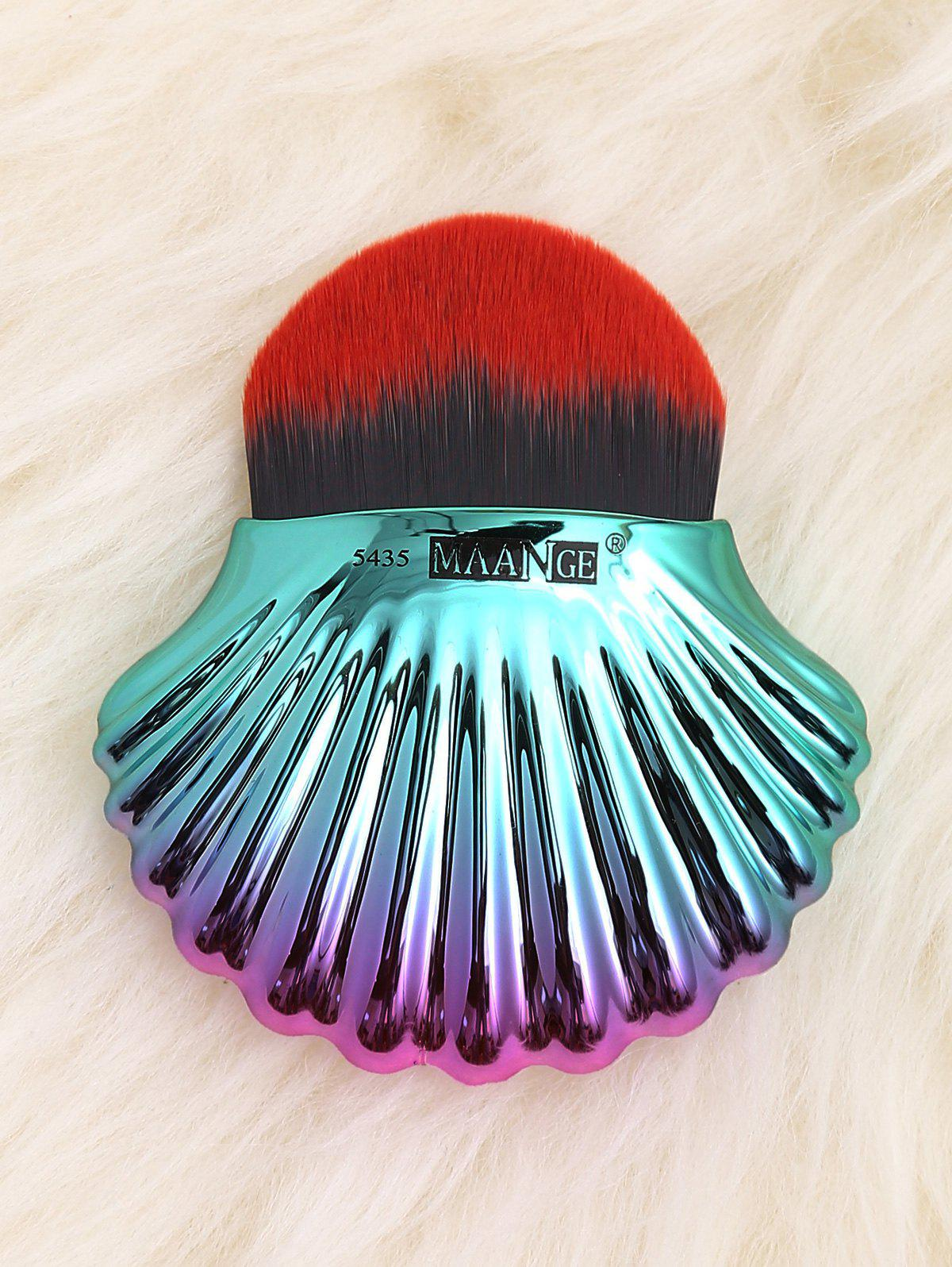 Unique Two Tone Ocean Shell Shape Foundation Brush