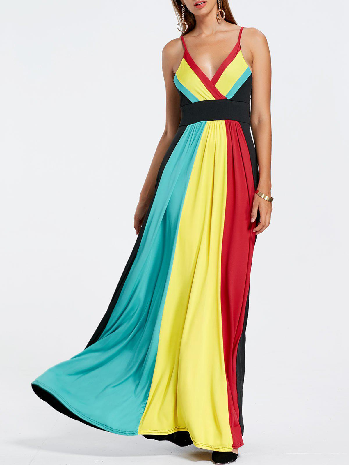 Sale Rainbow Maxi Pleated Dress