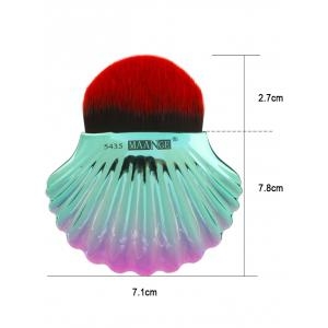 Two Tone Ocean Shell Shape Foundation Brush - BLACK RED