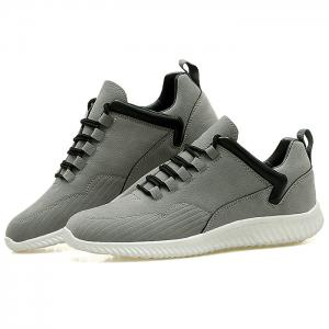 Low Top Tie Up Athletic Shoes - GRAY 43