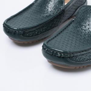 Slip On Hollow Out Casual Shoes - Bleu 43