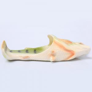 Plastic Fish Shaped Slippers - GREEN SIZE(38-39)
