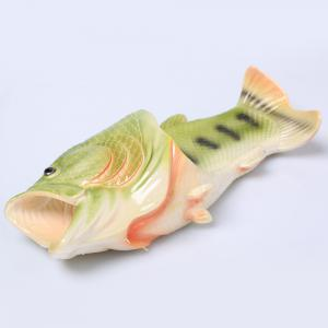 Plastic Fish Shaped Slippers - GREEN SIZE(40-41)