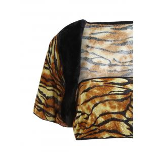 Tiger Print Velour Cosplay Costume Outfits -