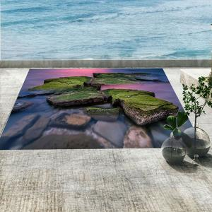 Seaside Stones Imprimé Home Decor Sticker mural - Vert