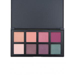 8 Colors Facial Earth Tone Eyeshadow Cosmetic Palette - #01