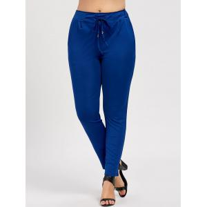 Slimming Plus Size Drawstring Tapered Pants -
