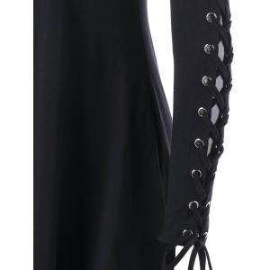 Open Shoulder Lace Up Cut Out Gothic Dress -