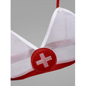 Mesh Nurse Bralette Cosplay Costume -