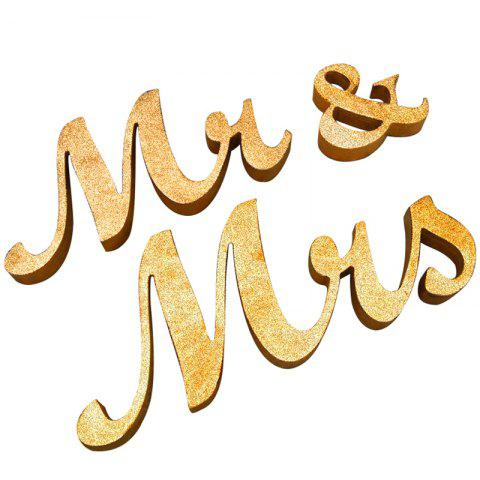 Affordable Wedding Decor Wooden Glitter Mr And Mrs GOLDEN