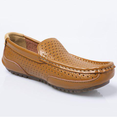 Slip On Hollow Out Casual Shoes - Yellow - 44