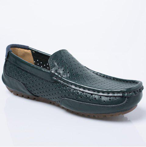 Slip On Hollow Out Casual Shoes - Blue - 44