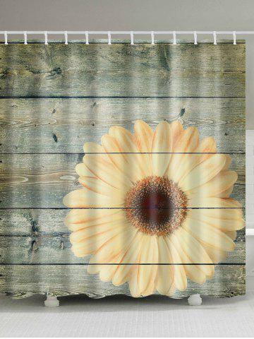 Plank Sunflower Shower Curtain Bathroom Decor - Wood - W71 Inch * L79 Inch