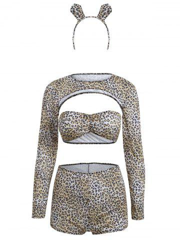 New Leopard Print Cropped Halloween Costume