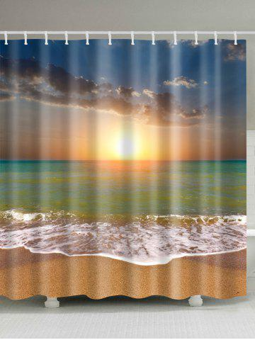 Waterproof Sunset Beach Shower Curtain - Colormix - W71 Inch * L79 Inch