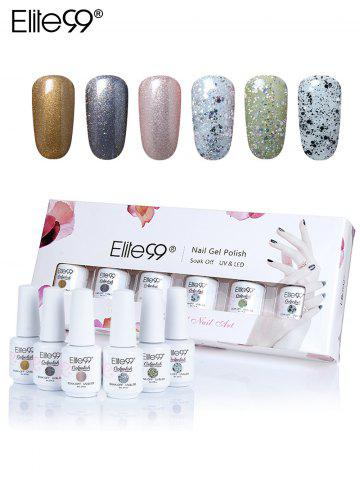 Sale Elite99 8ml*6Pcs Polishing UV LED Soak-off Gel Nail Set