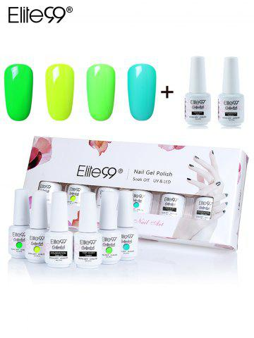 Unique Elite99 6Pcs UV LED Soak-off Gel Polish Nail Set