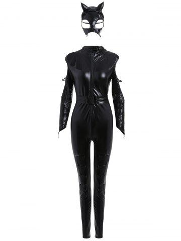 Shops Long Sleeve Fitted Classic Halloween Costume BLACK ONE SIZE