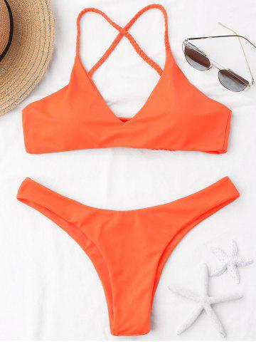 Braided Straps Cross Back Bikini Swimwear
