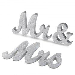 Wedding Decor Glitter Powder Wooden Mr And Mrs -