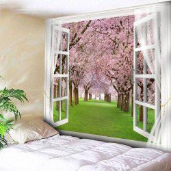 Window Peach Blossom Forest Bedroom Tapestry