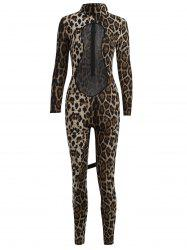 Mesh Panel Leopard Halloween Costume