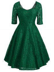 Floral Lace Sweetheart Vintage Dress