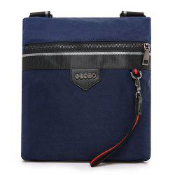 Zipper Nylon Messenger Bag