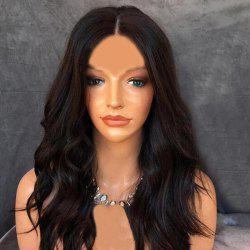 Long Center Parting Slightly Curly Bob Synthetic Wig