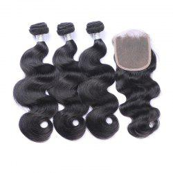 3Pcs/Lot 7A Remy Long Body Wave Indian Human Hair Weaves -
