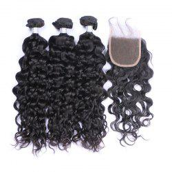 3Pcs/Lot 7A Remy Indian Long Natural Wave Human Hair Weaves