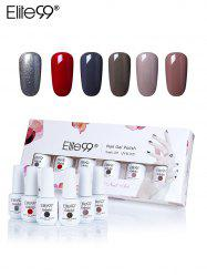 Elite99 6 Colors Polish UV LED Soak Off Gel Nail kit