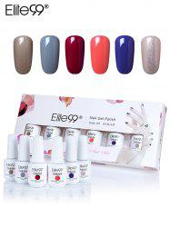 Elite99 6Pcs UV LED Soak Off Gel Nail Polishing Set