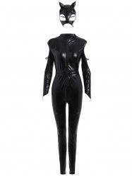 Long Sleeve Fitted Classic Halloween Costume - BLACK ONE SIZE