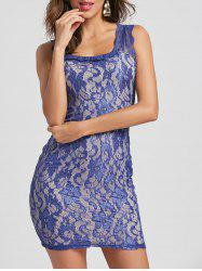 Slimming Solid Color Embroidered Sleeveless Women's Dress -
