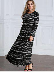 Tie Dyed Long Sleeve Maxi Dress -