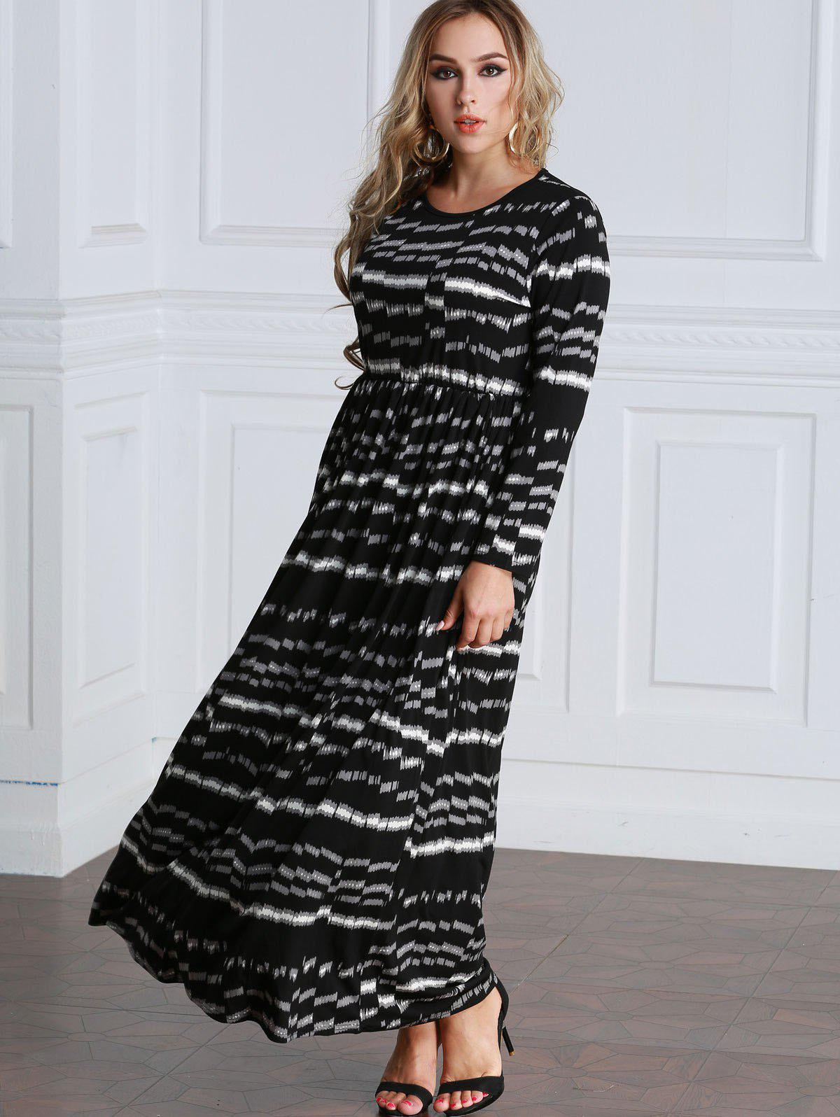 Shop Tie Dyed Long Sleeve Maxi Dress