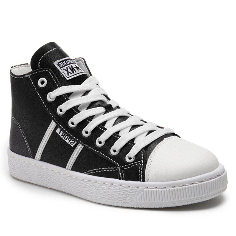 Shops High Top PU Leather Casual Shoes