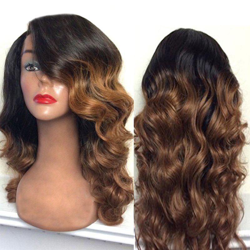 Affordable Long Side Part Body Wave Colormix Synthetic Wig