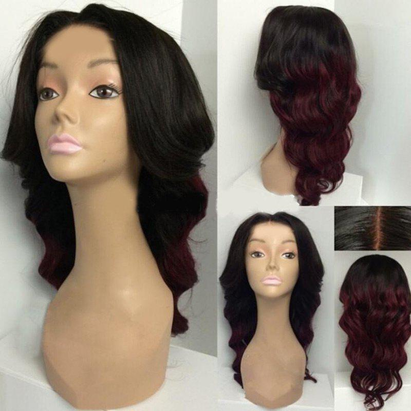 Long Center Parting Body Wave Ombre Synthetic WigHAIR<br><br>Color: BLACK&amp;RED; Type: Full Wigs; Cap Construction: Capless; Style: Wavy; Material: Synthetic Hair; Bang Type: Middle; Length: Long; Length Size(CM): 52; Weight: 0.2650kg; Package Contents: 1 x Wig;
