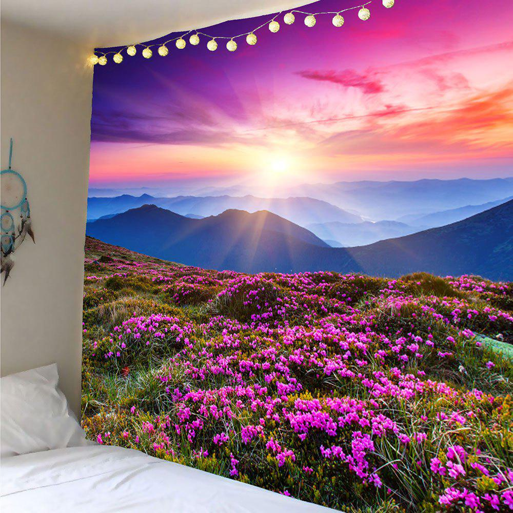 Lavender Pattern Wall Art TapestryHOME<br><br>Size: W71 INCH * L71 INCH; Color: PURPLE; Style: Natural; Material: Polyester; Feature: Removable,Washable; Shape/Pattern: Floral; Weight: 0.3600kg; Package Contents: 1 x Tapestry;