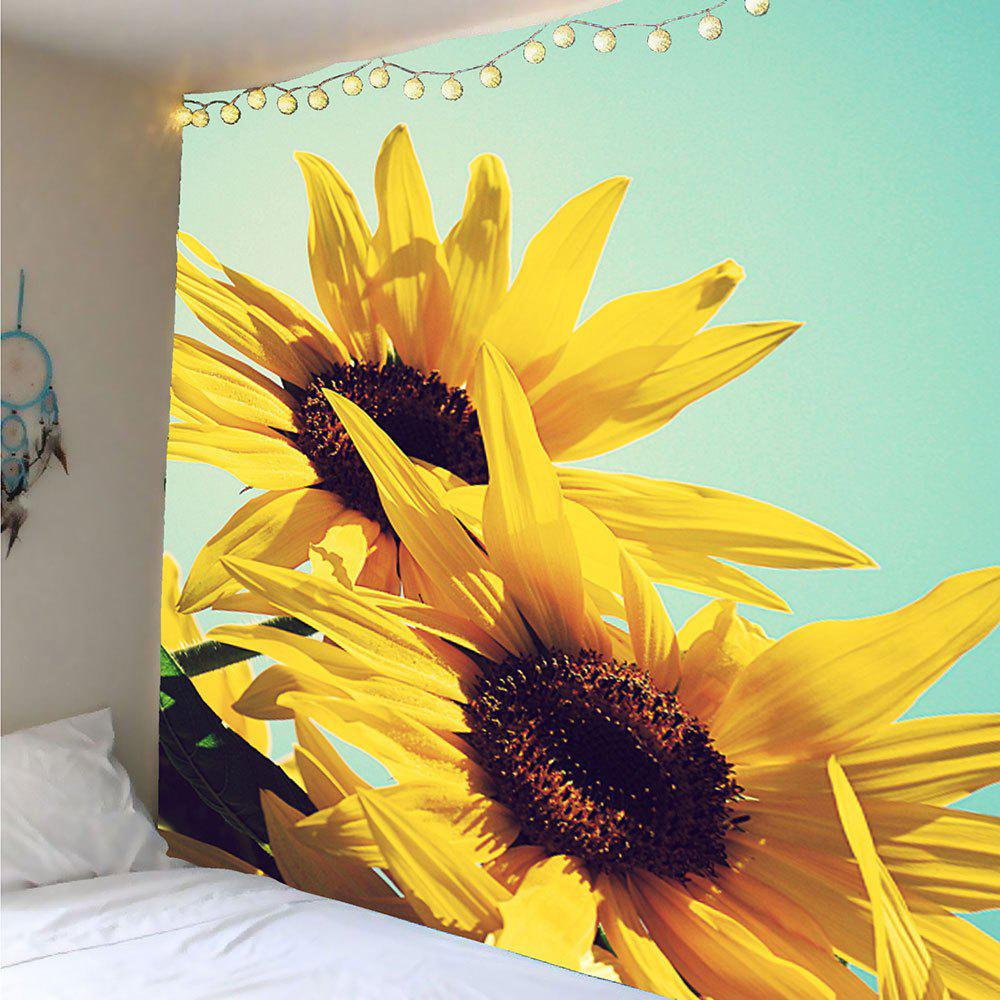 Yellow W91 Inch * L71 Inch Sunflowers Pattern Wall Art Tapestry ...