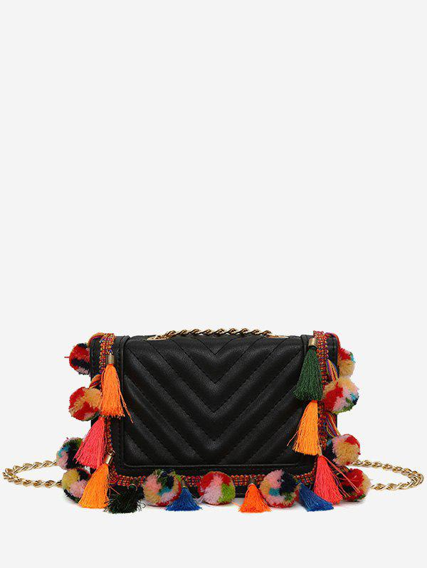 Online Stitching Tassels Chain Crossbody Bag