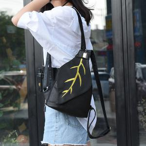 Zipper Embroidery Backpack -