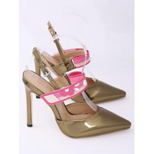 Slingback Stiletto Heel Pumps - GOLDEN 39