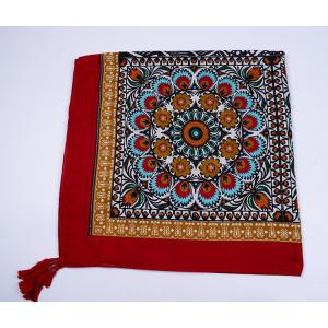 Ethnic Flowers Printed Cotton Blended Shawl Scarf -